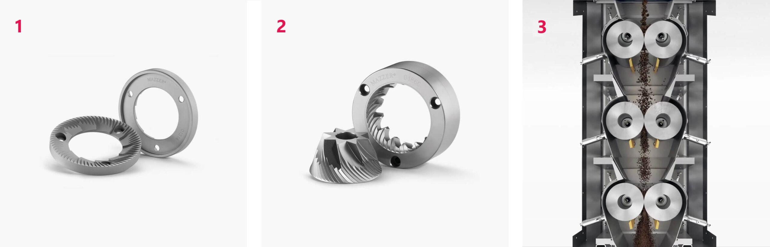 дисковые цилиндрические жернова